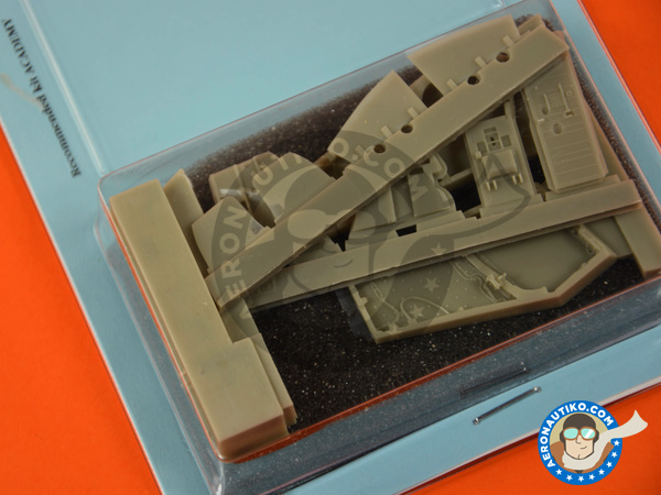 Image 2: McDonnell Douglas F-4 Phantom II J / S | Wheel bay in 1/48 scale manufactured by Aires (ref. AIRES-4681)