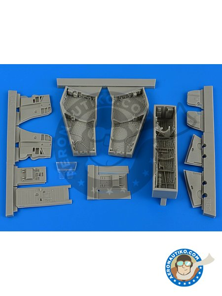 F-4C/D Phantom II wheel bay with covers | Wheel bay in 1/48 scale manufactured by Aires (ref.AIRES-4688) image
