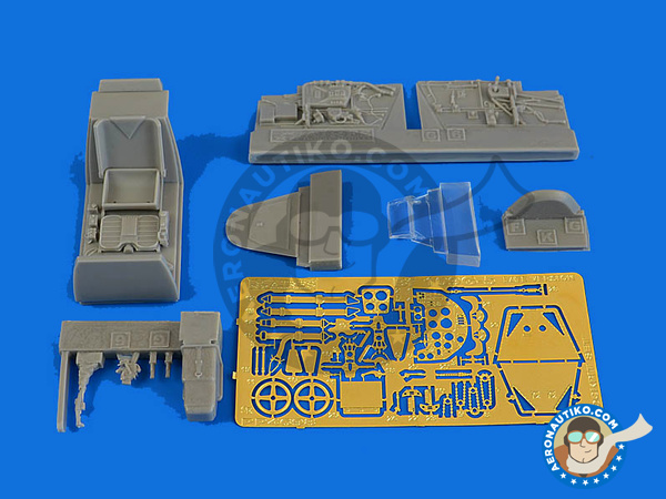Image 1: Messerschmitt Bf 109 G-5 late | Cockpit set in 1/48 scale manufactured by Aires (ref.AIRES-4698)