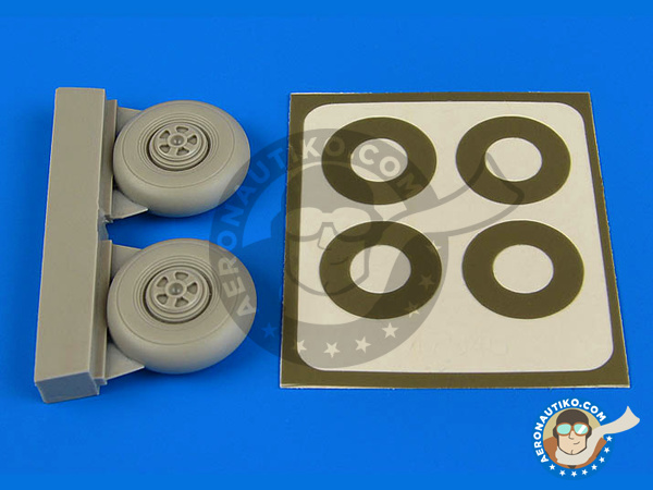 Image 1: Bristol Beaufighter TF Mk. X | Wheels in 1/72 scale manufactured by Aires (ref.AIRES-7346)