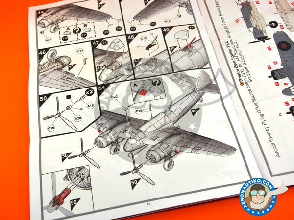 Image 7: Bristol Beaufighter TF Mk. X | Airplane kit in 1/72 scale manufactured by Airfix (ref. A04019)