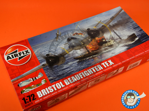 Image 11: Bristol Beaufighter TF Mk. X | Airplane kit in 1/72 scale manufactured by Airfix (ref. A04019)