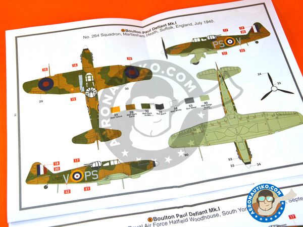 Image 8: Boulton Paul Defiant Mk. I | Airplane kit in 1/48 scale manufactured by Airfix (ref.A05128)