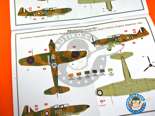 Image 9: Boulton Paul Defiant Mk. I | Airplane kit in 1/48 scale manufactured by Airfix (ref.A05128)
