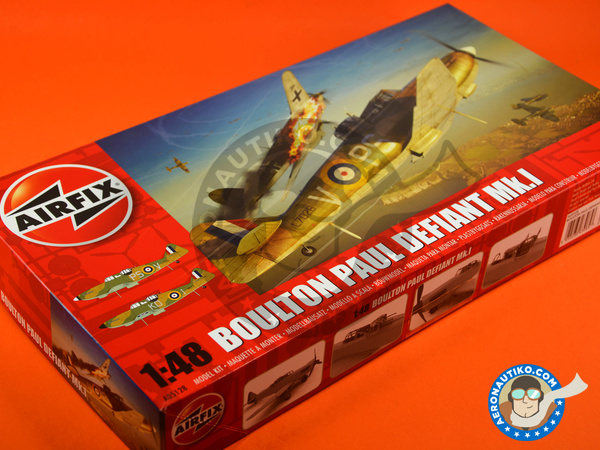 Image 11: Boulton Paul Defiant Mk. I | Airplane kit in 1/48 scale manufactured by Airfix (ref. A05128)