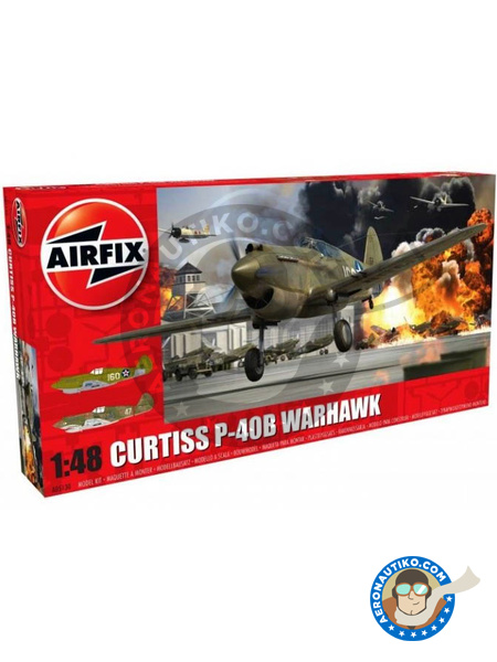 Curtiss P-40 Warhawk B | Airplane kit in 1/48 scale manufactured by Airfix (ref. A05130) image
