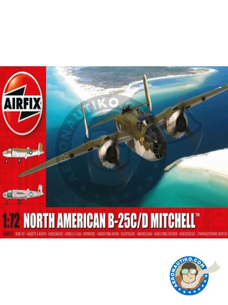 North American B25C/D Mitchell | Airplane kit in 1/72 scale manufactured by Airfix (ref. A06015) image