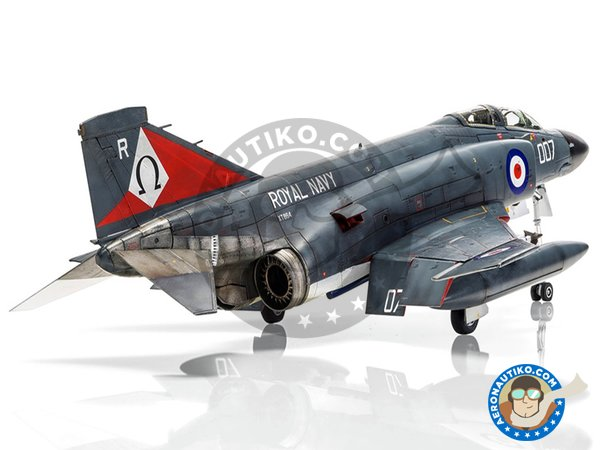 Image 3: McDonnell Douglas FG.1 Phantom II | Airplane kit in 1/48 scale manufactured by Airfix (ref. A06016)