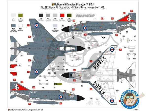 Image 4: McDonnell Douglas FG.1 Phantom II | Airplane kit in 1/48 scale manufactured by Airfix (ref. A06016)