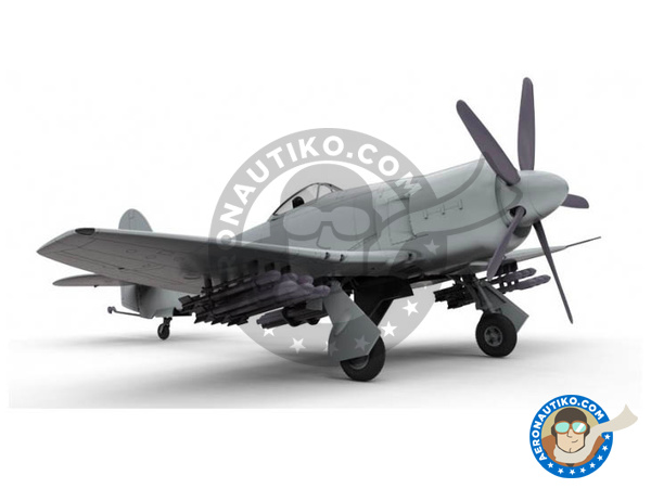 Image 1: Hawker Sea Fury FB. II | Airplane kit in 1/48 scale manufactured by Airfix (ref.A06105)