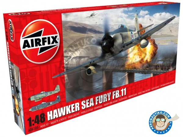 Image 2: Hawker Sea Fury FB. II | Airplane kit in 1/48 scale manufactured by Airfix (ref.A06105)
