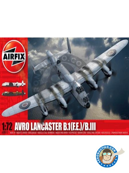 Avro Lancaster B.1(F.E.)/B.III | Airplane kit in 1/72 scale manufactured by Airfix (ref. A08013) image