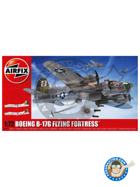 Boeing B-17 Flying Fortress G | Airplane kit in 1/72 scale manufactured by Airfix (ref. A08017) image