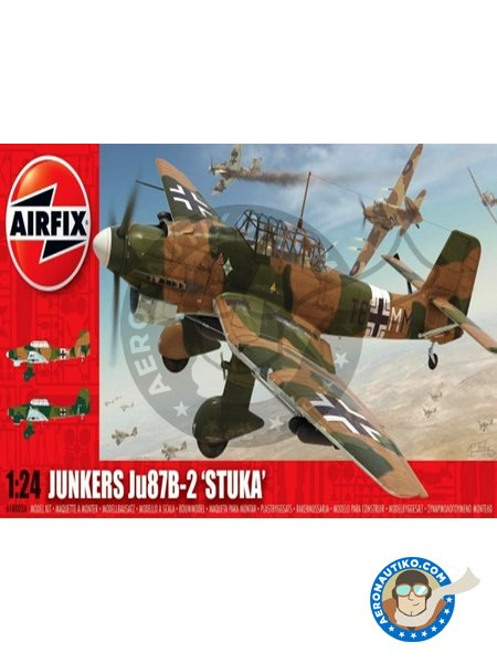 Junkers Ju 87B-2 'Stuka' | Airplane kit in 1/24 scale manufactured by Airfix (ref.A18002A) image