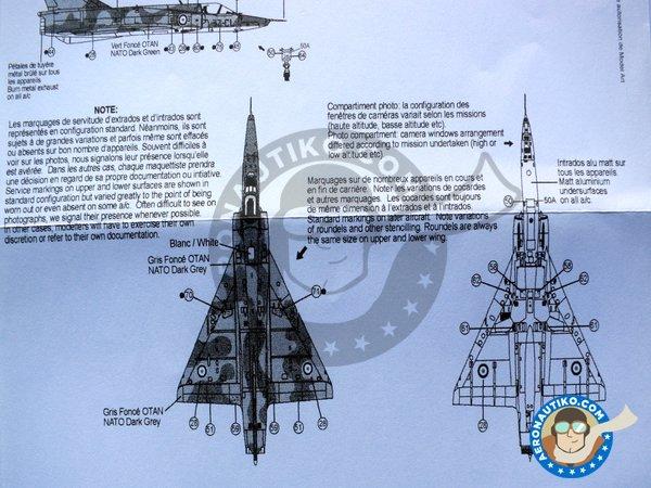Image 4: Dassault Mirage IIIR & IIIRD Armée de l'Air | Marking / livery in 1/32 scale manufactured by Berna Decals (ref.BD32-40)