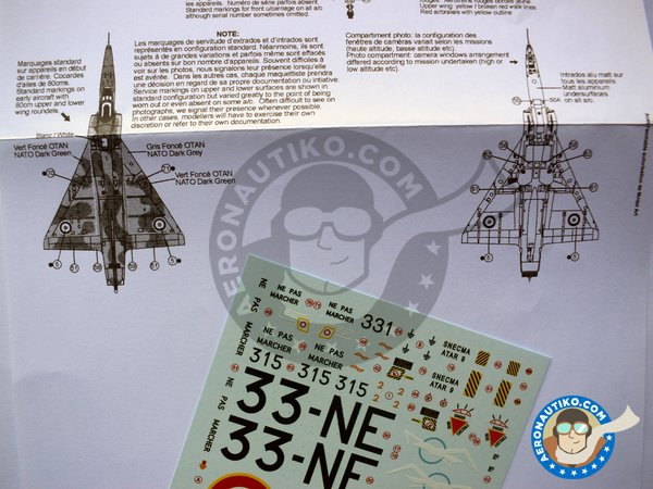 Image 4: Dassault Mirage IIIR | Marking / livery in 1/32 scale manufactured by Berna Decals (ref. BD32-41)
