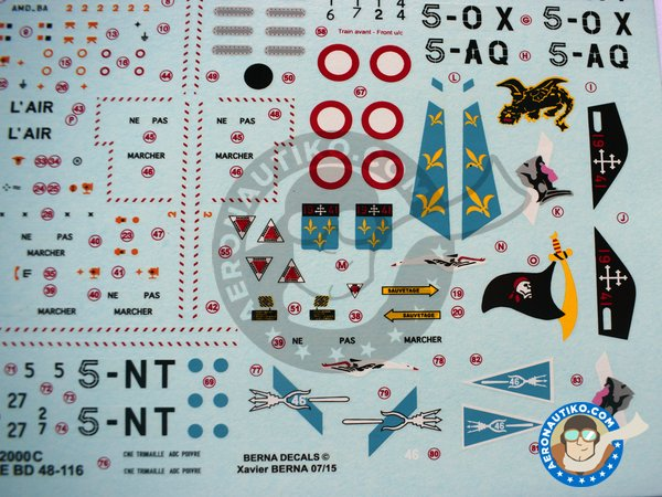 Image 4: Dassault Mirage 2000C | Marking / livery in 1/48 scale manufactured by Berna Decals (ref. BD48-116)