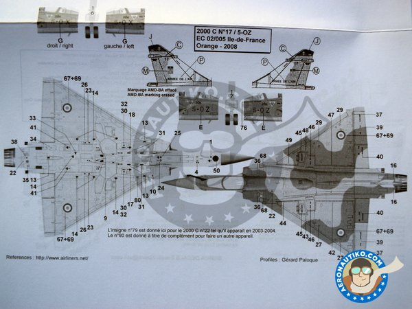 Image 6: Dassault Mirage 2000C | Marking / livery in 1/48 scale manufactured by Berna Decals (ref. BD48-116)