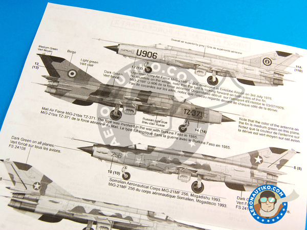 Image 9: Mikoyan-Gurevich MiG-21 Fishbed | Marking / livery in 1/48 scale manufactured by Berna Decals (ref. BD48-79)