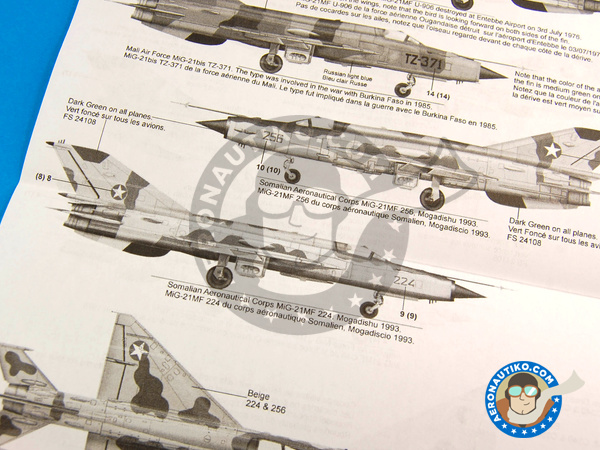 Image 10: Mikoyan-Gurevich MiG-21 Fishbed | Marking / livery in 1/48 scale manufactured by Berna Decals (ref. BD48-79)