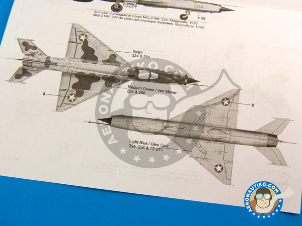 Image 11: Mikoyan-Gurevich MiG-21 Fishbed | Marking / livery in 1/48 scale manufactured by Berna Decals (ref. BD48-79)