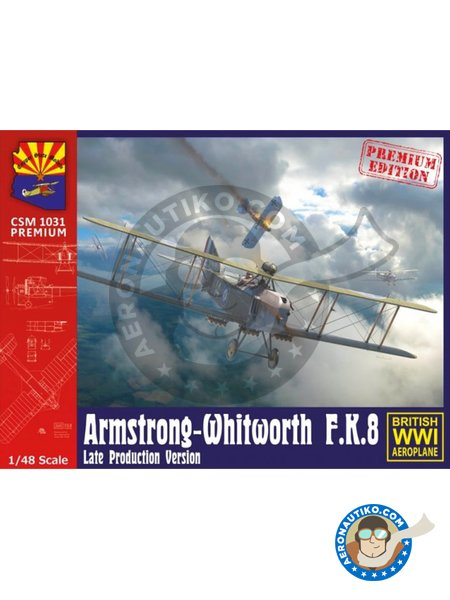 Armstrong-Whitworth F.K.8. Late production version. | Airplane kit in 1/48 scale manufactured by Copper State Models (ref.CSM1031) image