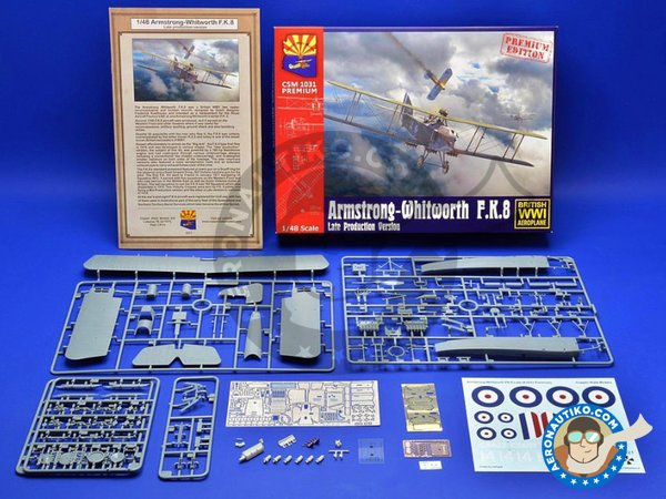 Image 2: Armstrong-Whitworth F.K.8. Late production version. | Airplane kit in 1/48 scale manufactured by Copper State Models (ref.CSM1031)