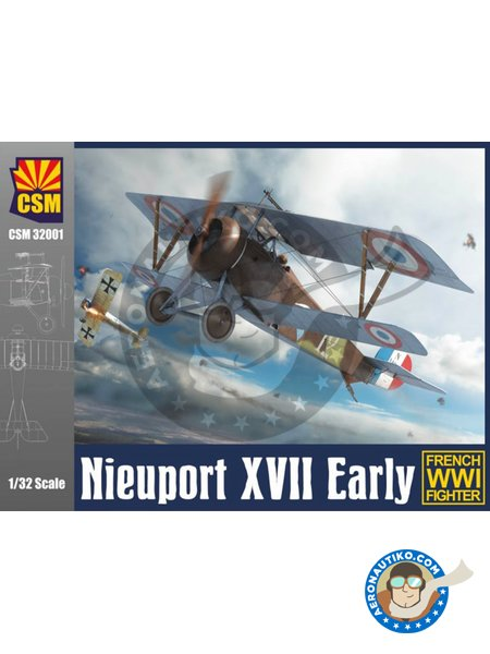 Nieuport XVII Early | Airplane kit in 1/32 scale manufactured by Copper State Models (ref. CSM32001) image
