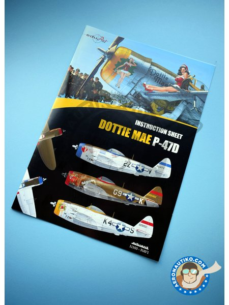 Republic P-47 D | Airplane kit in 1/32 scale manufactured by Eduard (ref. 11103) image