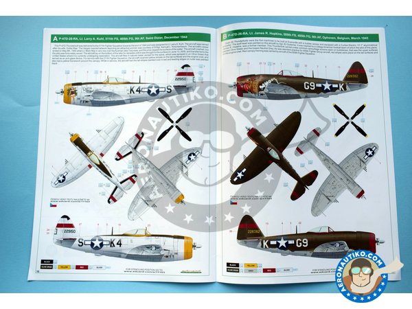 Image 12: Republic P-47 D | Airplane kit in 1/32 scale manufactured by Eduard (ref. 11103)