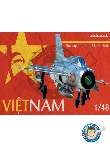 Vietnam Mig-21 | Airplane kit in 1/48 scale manufactured by Eduard (ref. 11115) image