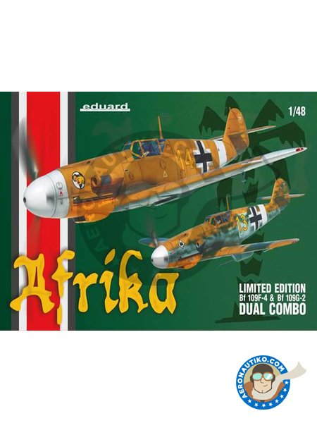 Bf 109F-4 & Bf 109G-2 'Afrika' Limited Edition | Dual Combo in 1/48 scale manufactured by Eduard (ref.11116) image