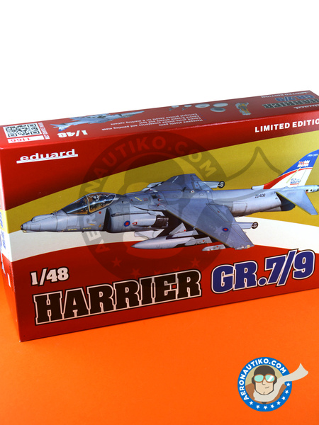 McDonnell Douglas AV-8B Harrier GR. 7/9 | Airplane kit in 1/48 scale manufactured by Eduard (ref. 1166) image