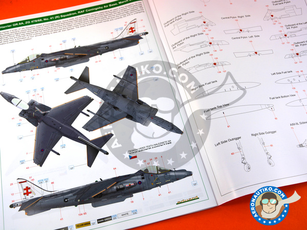 Image 9: McDonnell Douglas AV-8B Harrier GR. 7/9 | Airplane kit in 1/48 scale manufactured by Eduard (ref. 1166)