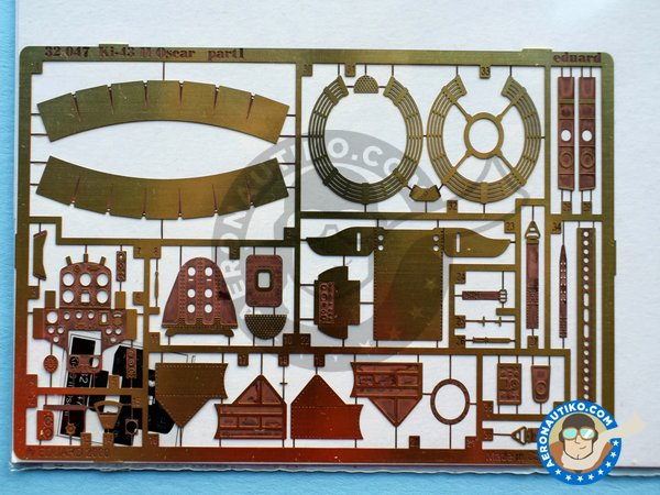 Image 1: Ki-43 II Oscar | Photo-etched parts in 1/32 scale manufactured by Eduard (ref. 32047)