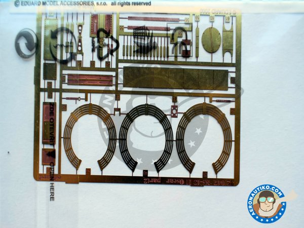 Image 2: Ki-43 II Oscar | Photo-etched parts in 1/32 scale manufactured by Eduard (ref.32047)