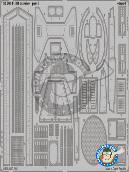 Grumman F-14D Exterior | Photo-etched parts in 1/32 scale manufactured by Eduard (ref.32269) image