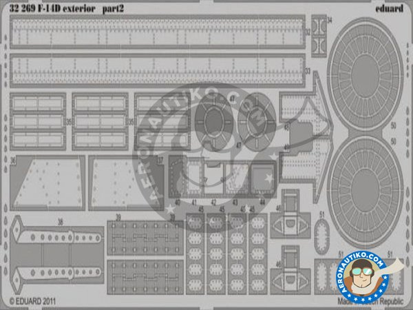 Image 1: Grumman F-14D Exterior | Photo-etched parts in 1/32 scale manufactured by Eduard (ref.32269)