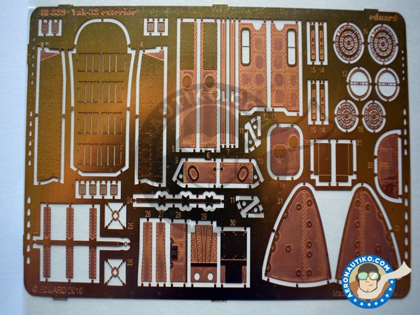 Image 1: Yak-38 PE Exterior Detail | Photo-etched parts in 1/48 scale manufactured by Eduard (ref. 48889)