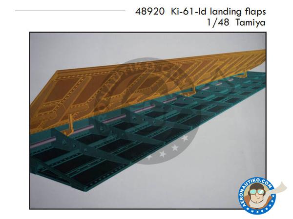 Image 1: Kawasaki Ki-61 | Flaps in 1/48 scale manufactured by Eduard (ref.48920)