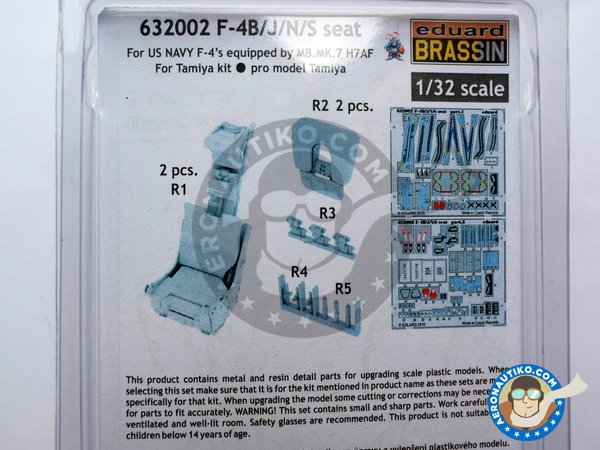 Image 3: F-4B/J/N/S seat | Seat in 1/32 scale manufactured by Eduard (ref. 632002)