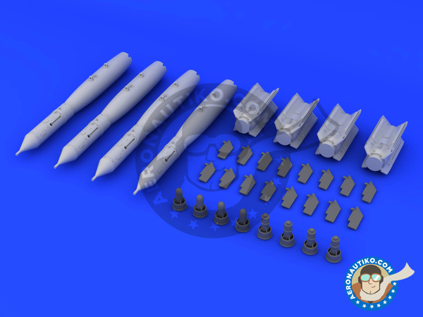 Image 3: GBU-12 Paveway II bomb - Bombs - Weapons | Bombs in 1/32 scale manufactured by Eduard (ref. 632072)