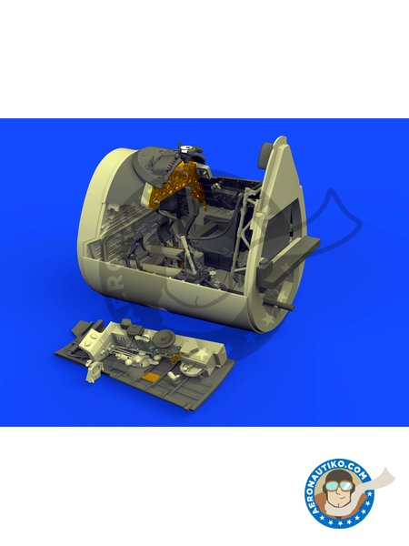 F4U-1D Cockpit | Brassin detail up set in 1/48 scale manufactured by Eduard (ref. 632115) image