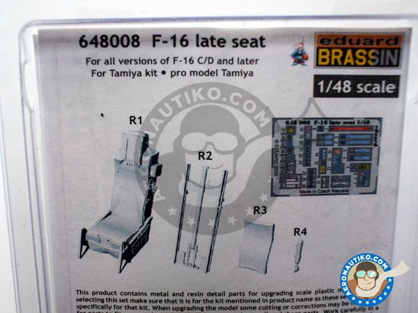 Image 3: F-16 Late Seat | Seat in 1/48 scale manufactured by Eduard (ref. 648008)