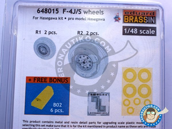 Image 4: F-4J/S Wheels | Wheels in 1/48 scale manufactured by Eduard (ref. 648015)
