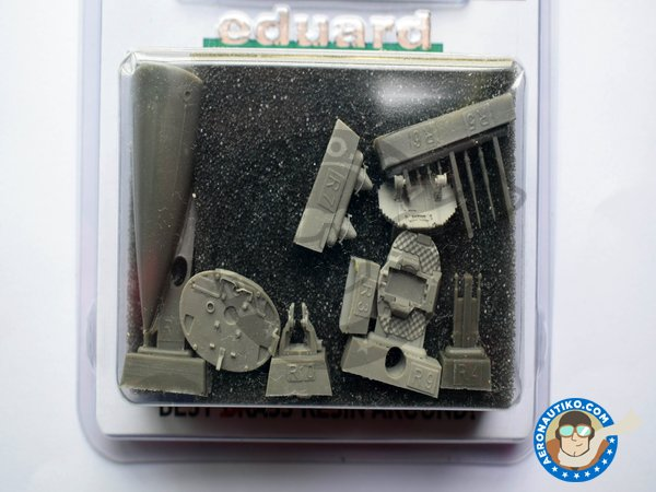 Image 3: F-16 Radar late (APG-68) | Brassin detail up set in 1/48 scale manufactured by Eduard (ref.648033)