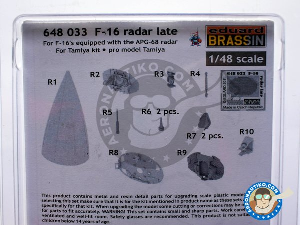 Image 4: F-16 Radar late (APG-68) | Brassin detail up set in 1/48 scale manufactured by Eduard (ref. 648033)