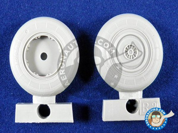 Image 1: Su-27 Wheels | Wheels in 1/48 scale manufactured by Eduard (ref. 648053)