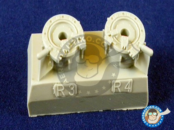 Image 3: Su-27 Wheels | Wheels in 1/48 scale manufactured by Eduard (ref. 648053)