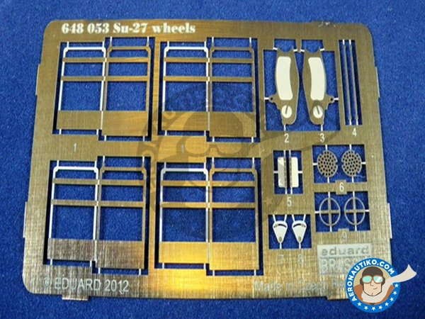 Image 6: Su-27 Wheels | Wheels in 1/48 scale manufactured by Eduard (ref. 648053)